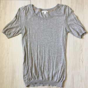 Short sleeved gray BR sweater